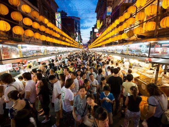台湾庙口夜市