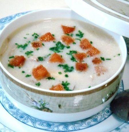 松茸鸡肉浓汤