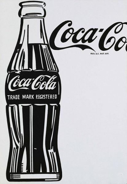 经典可乐瓶手绘图