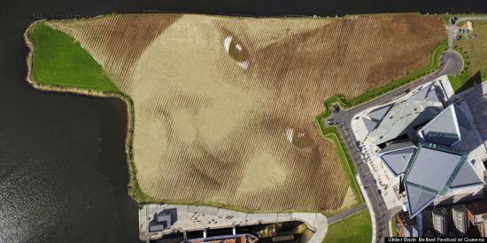 艺术家创作巨型女孩肖像:面积达11英亩