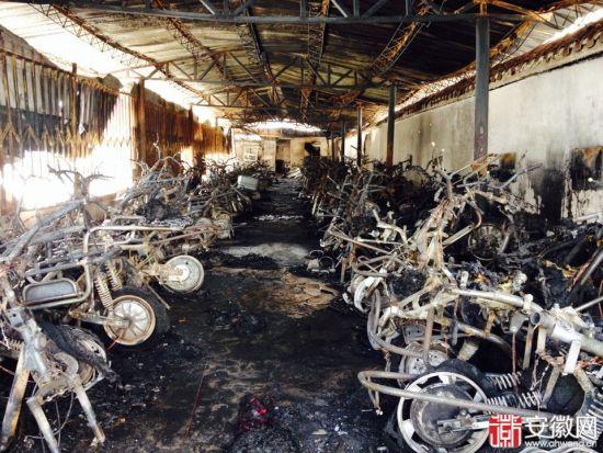 合肥香江国际佳元小区车库起火