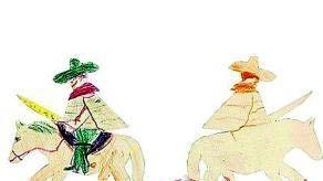 毕加索的涂鸦《马背》