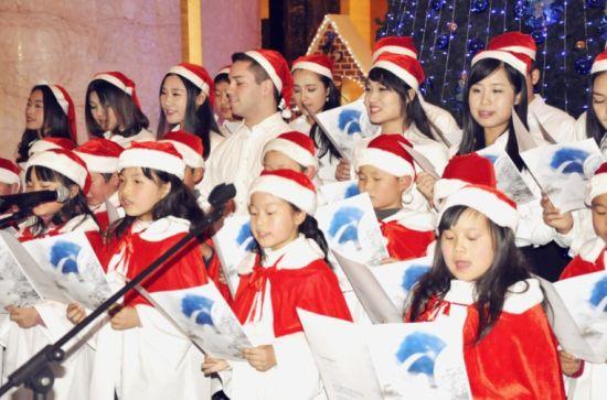 合肥万达威斯汀模特仪式圣诞点灯酒店情趣内衣_蓝色女图片