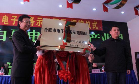 合肥市电子商务示范园区举行授牌仪式