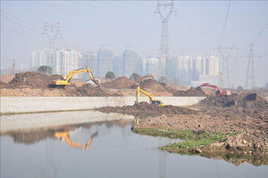 康熙河水系治理工程现场