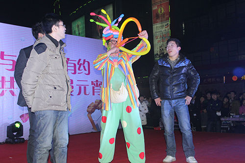小丑气球表演