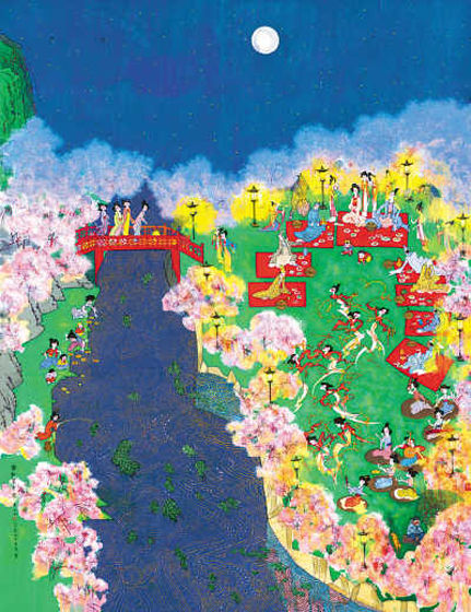 黄永玉向国家博物馆捐赠巨幅作品《春江花月夜》