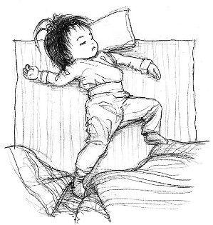 手绘睡觉美女图片