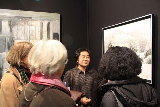 2013年卢浮宫国际美术展吴玉柱油画《徽州忆梦——雪》系列作品荣获特别奖