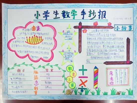 蜀山小学开展学生数学手抄报比赛