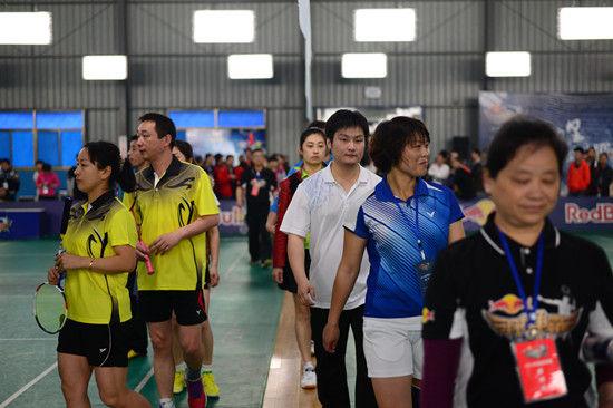 红牛羽林争霸羽毛球城市赛安庆站的比赛正式开拍