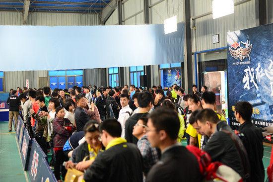 红牛羽林争霸羽毛球城市赛安庆站比赛现场