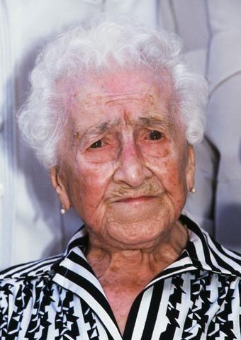 资料图:珍妮·路易斯·卡尔曼113岁时的照片。