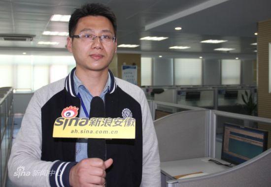 支撑中心在线工程师陈慧麟接受采访。