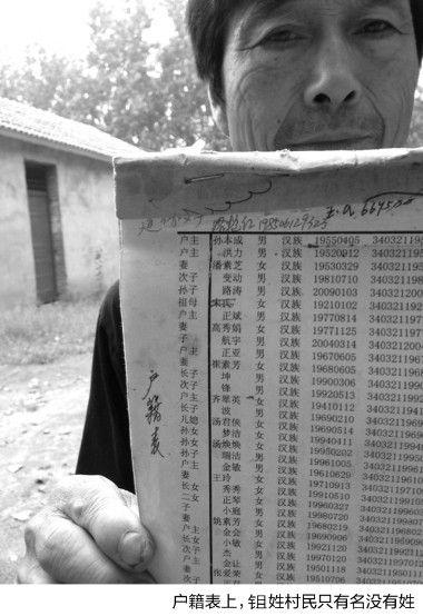 村民的户籍表