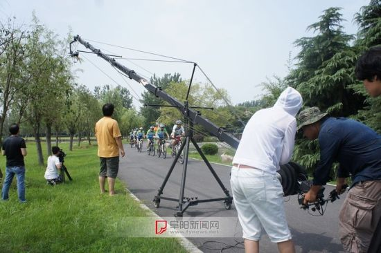 阜城拍摄申办2018年省运会宣传片