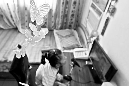艾娜房间里,孙文广送的蝴蝶风铃
