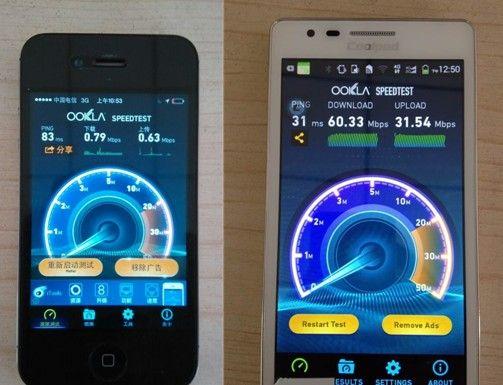 4G与3G大PK!天翼4G实现网速完美大跨越
