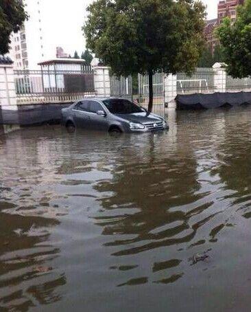 被淹的合肥建筑大学