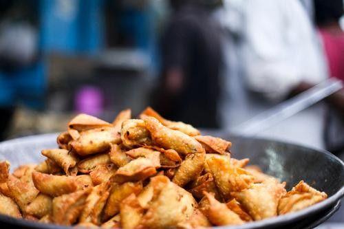 印度: 素食萨莫萨三角饺