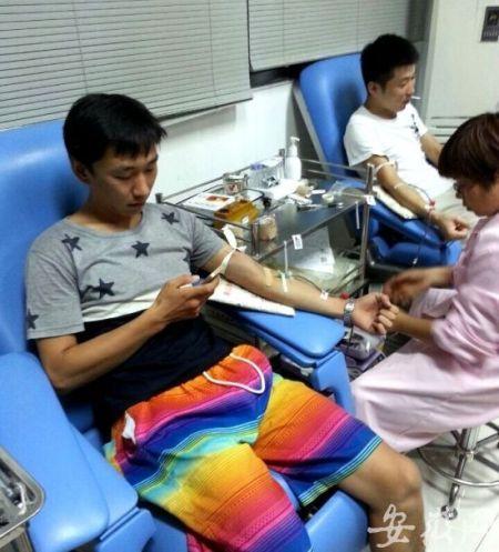 市民连夜排队献血