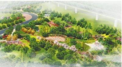 海棠公园鸟瞰效果图