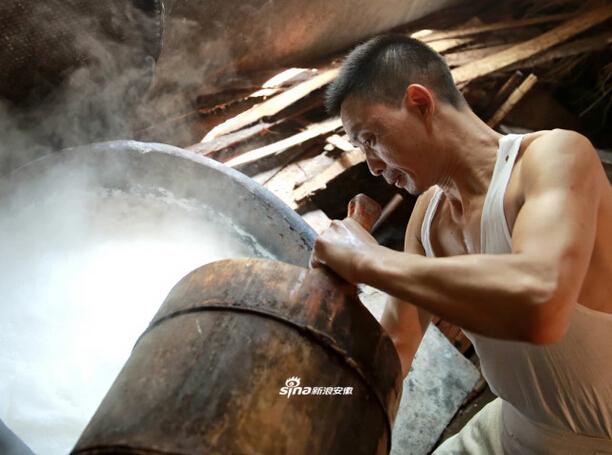 传统磨豆腐