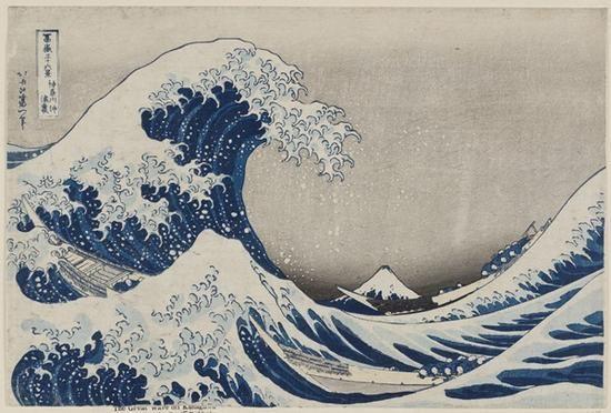 《神奈川冲浪里》(kanagawa-oki nami-ura),又名《巨浪》