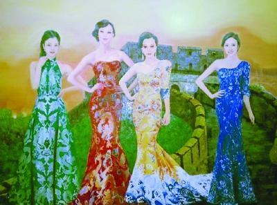 著名油画油画家王俊英王俊英新四大美女图王俊英油画