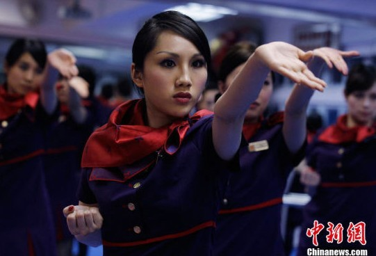 空姐学咏春秒杀甄子丹