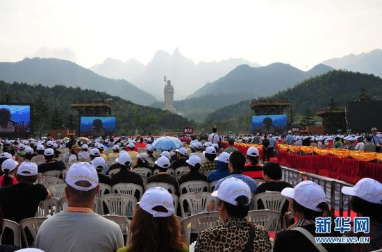 九华山99米地藏菩萨圣像开光