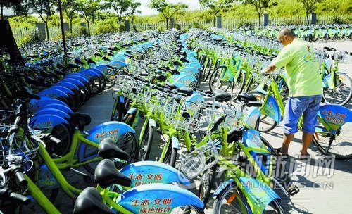 请将公共自行车当私家车一样爱护