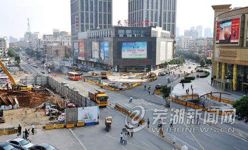 中山北路改造工程已完成70%工程量