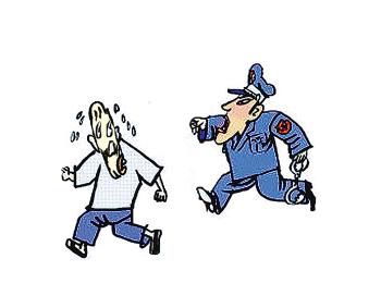 上学警察卡通素材